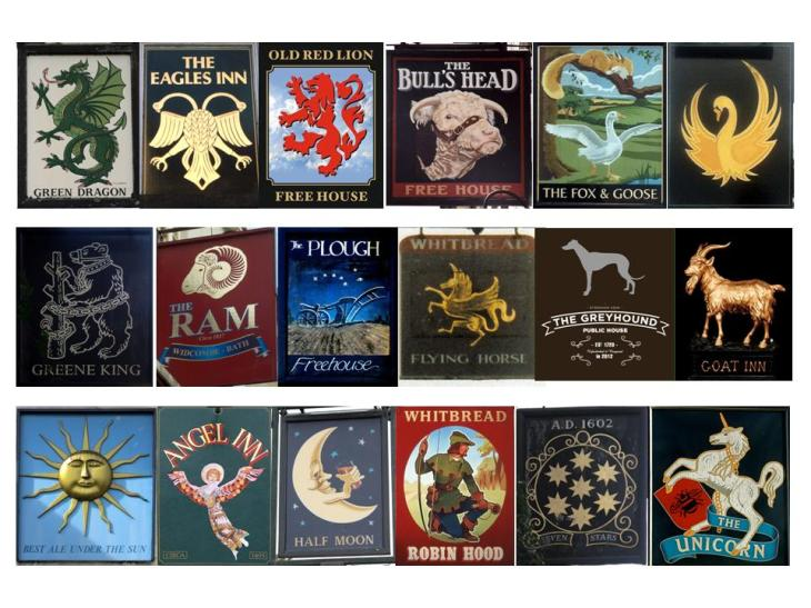 Pub Signs Collage v0.1