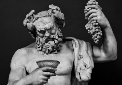 The Roman god of wine Dionysus or Bacchus