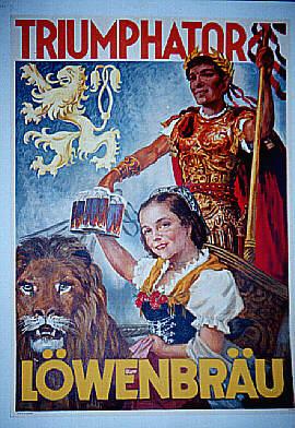 Triumphator Lowenbrau-Beer-Poster