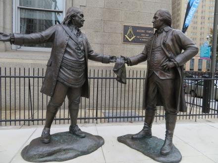 Benjamin Franklin George Washington Freemasons