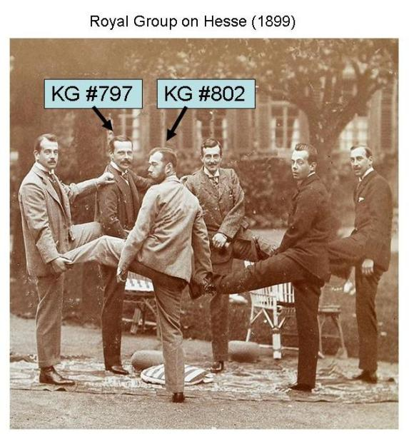 KG797 and KG802 Royal Group on Hesse 1899