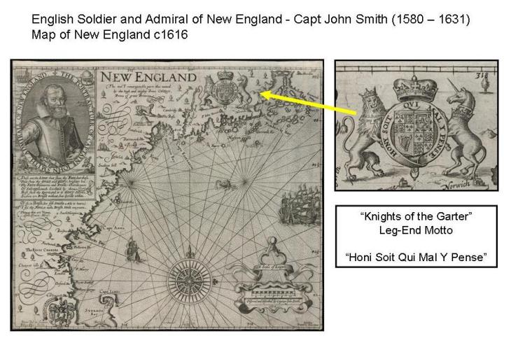 Map of New England c1616